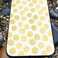 Gold Painted POLKA DOTS for iPhone 4/4s, iPhone 5/5S/5C/6, Samsung S3/S4/S5 Unique Case *76*