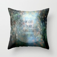Her Own Fairytale Throw Pillow by Ally Coxon