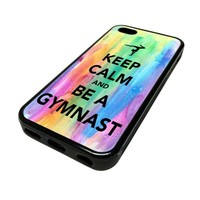For Apple iPhone 5C 5 C Case Cover Skin Hipster Keep Calm Be A Gymnastics Gymnast Love Teenager Quotes Teen DESIGN BLACK RUBBER SILICONE Teen Gift Vintage Hipster Fashion Design Art Print Cell Phone Accessories