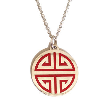 Guilin silver Pendant red