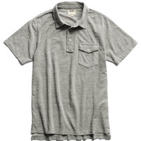 Classic Pique Polo in Grey Heather
