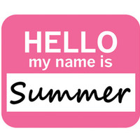 Summer Hello My Name Is Mouse Pad