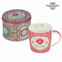 Pink tea cup with box - Kitchen's Deco Collection by Bravissima Kitchen