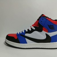 """Air Jordan 1"" Men Casual Fashion Multicolor High Help Plate Shoes Sneakers"