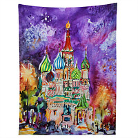 Ginette Fine Art Saint Basils Cathedral Russia Tapestry