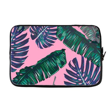 Pink and Palms Laptop Case