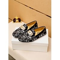 Versace Men's 2021 NEW ARRIVALS Fashion Loafers Shoes