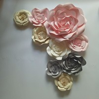 Giant Paper Flowers Set 9pcs For Wedding Backdrops Decorations For Wall Girls' Baby Shower Mix Flowers Styles Sets