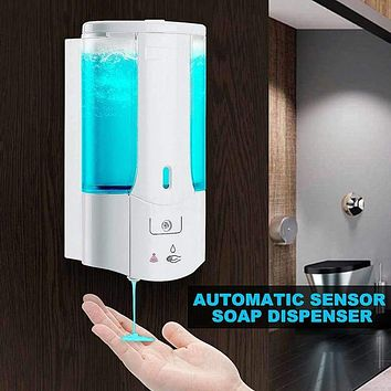 400ML Single Head Wall Mount Automatic Liquid Soap Dispenser Washing Lotion Soap Shampoo Dispenser Sensor Soap Dispenser|Portable Soap Dispensers