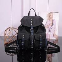 PRADA 1BZ811 BLACK NYLON BACKPACK BAG