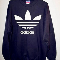 "Fashion ""Adidas"" Print Sweater Pullover Tops Sweater Sweatshirts Black high quality"