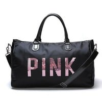 PINK Victoria's Secret Fashion Print Travel Luggage Bag Shoulder Bag