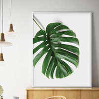 Sale!!! Monstera Print, Monstera Leaf, Tropical Print, Monstera Leaf Print, Monstera Wall Art, Tropical Decor, Monstera Deliciosa