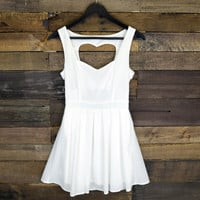 Queen of Hearts White Cut Out Dress