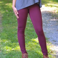 Jegging Perfection- Burgundy