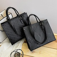 Louis Vuitton fashion embossed casual ladies large capacity handbag with a shoulder crossbody bag