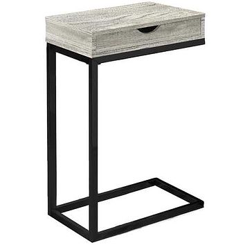 "Grey, Black, Particle Board, Drawer - Accent Table 10'.25"" x 15'.75"" x 24'.5"""