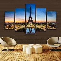 No Frame Canvas Picture Paris Eiffel Tower Painting Paintings on the wall Home Decoration Modular paintings on the wall