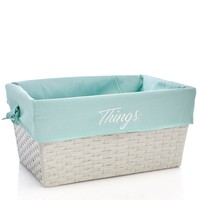 "Seafoam Lined 17"" Storage Basket- Large 611865250"