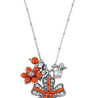 BetseyJohnson.com - CORAL FLOWER PENDANT CORAL