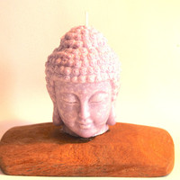 VALENTINE'S GIFT Buddha Head 3x4 Candle, Pick your fragrance! Natural Sustainable Palm Wax Buddha Yoga Space Decoration