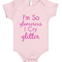 Cry Glitter-Unisex Light Pink Baby Onesuit 00