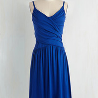Americana Long Spaghetti Straps A-line Tend to Commend Dress