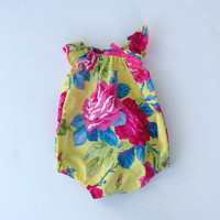 ONSALE Hello Sunshine Yellow Floral Romper Playsuit