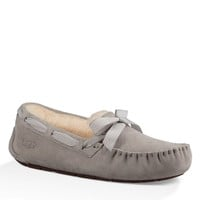 UGG® Dakota Bow Detail Suede Slippers | Dillards
