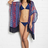 Fringed Woven Cover Up