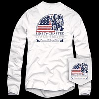 Long Sleeve Finely Crafted Tee in White by Over Under Clothing