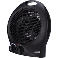 Brentwood 1500 watt 2 in 1 Fan Heater in Black - Walmart.com