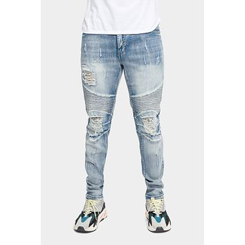 Distressed Scrunched Skinny Jeans