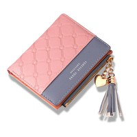 WESTERN AUSPICIOUS Wallet Women 2018 New Female Purse Pink Purple Gray Red Black Wallet Female Card Holder PU Leather Purse