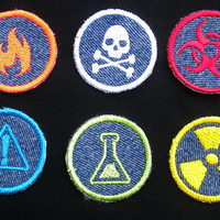 SCIENCE  Iron-on Patches/Merit Badges