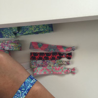 Lilly Pulitzer Inspired Hair Ties Pack of 5