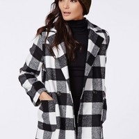 Missguided - Lily Lumberjack Coat Black Check