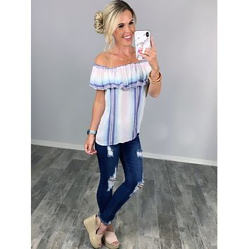 Southern Memories Striped Top