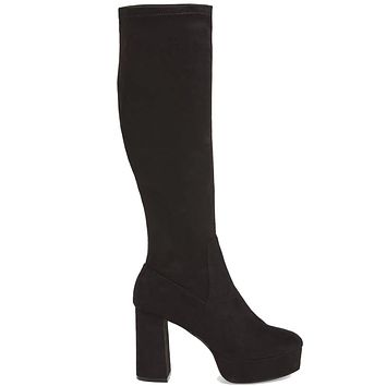 Chinese Laundry Nancy - Black Suede Tall Platform Boot