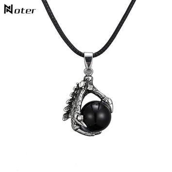 Punk Dragon Claw Design Chocker Necklace Gothic Hiphop Men Necklace For Male Fashion Jewelry Accessories Necklaces Pendants