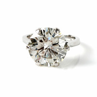 8.50ct Round Diamond Platinum Engagement Ring