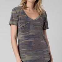 The Pocket Tee in Camo Green