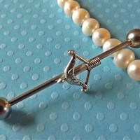Bow and Arrow Industrial Barbell Body Jewelry Ear Jewelry Double Piercing