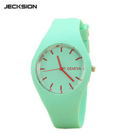JECKSION Geneva Watches Women Sports Candy-colored 12 Colors Jelly Silicone Strap Leisure Watch Free Shipping Y1