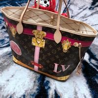 Louis Vuitton LV Women Shopping Leather Tote Handbag Shoulder Bag