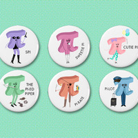 Pi Girls button set