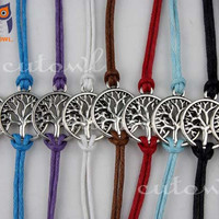 Ancient silver bracelets wish tree, infinity wishes tree, the best gift of friendship