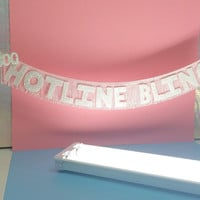 Hotline Bling Glittering Fringe Banner | Drake banner, 1-800 Hotline Bling, wall hanging, artwork, party banner, home decor, bachelorette