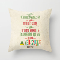 Buddy the Elf Throw Pillow, And Then, We'll Snuggle Pillow, Christmas Home Decor, Funny Holiday Pillow