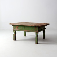 antique Italian coffee table with sliding top